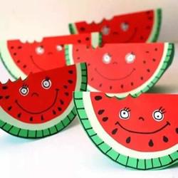 幼儿园西瓜手工图片 卡纸做西瓜的方法教程