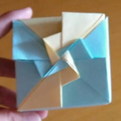 风车盒子怎么折图解教程 方形风车礼盒的折法