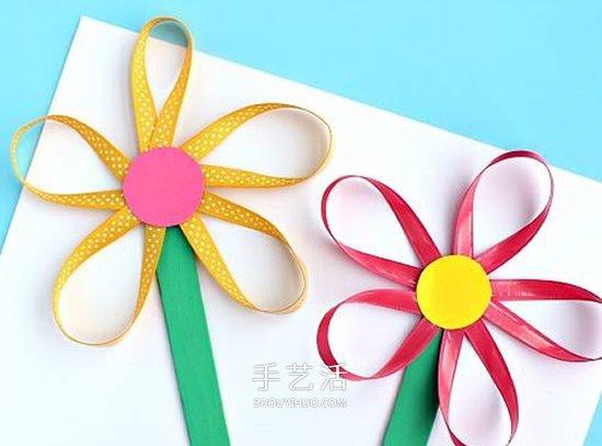 幼兒園緞帶做花的教程 簡單緞帶花怎麼做圖解