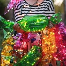 亮闪闪的糖果灯笼手工制作 很漂亮的装饰