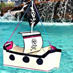废牛奶盒子做小船图解 儿童玩具船的手工图片