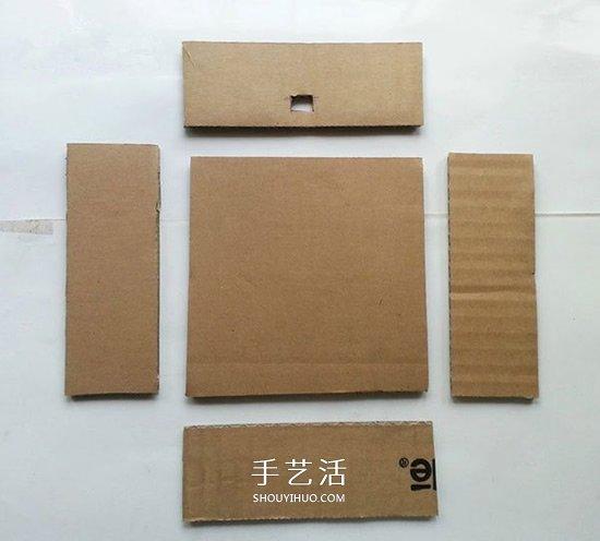 瓦楞紙做漂亮星星燈飾 改造成燈籠也很簡單 -  www.shouyihuo.com
