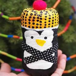 可乐瓶变废为宝DIY 手工制作可爱企鹅宝宝
