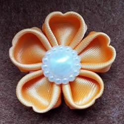 丝带手工制作梅花图解 做成漂亮的胸花或发饰