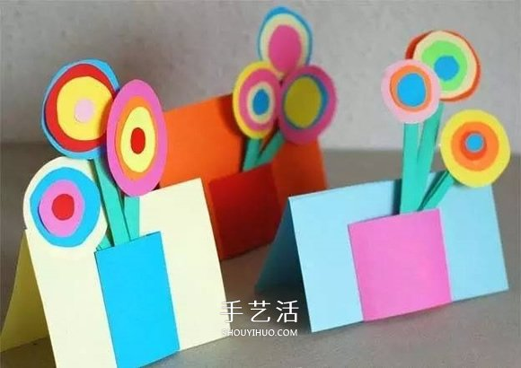 可愛花朵盆栽賀卡 完美的教師節賀卡手工製作
