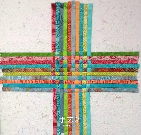 布條編織收納籃圖解 舊衣服編織收納筐步驟