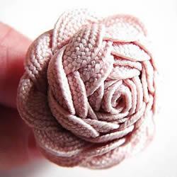 花布条玫瑰花手工制作 布条玫瑰花饰品DIY图解