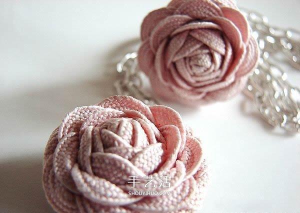 花布條玫瑰花手工製作 布條玫瑰花飾品DIY圖解