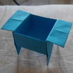 儿童简单折纸盒教程 鼎形纸盒的折法图解