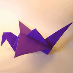 送出美好祝福!简单详细千纸鹤折纸方法图解