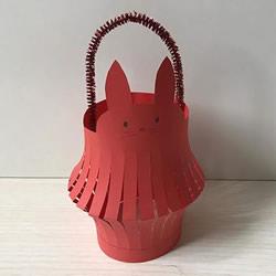 中秋节兔子灯笼的折纸方法 可改造成新年灯笼