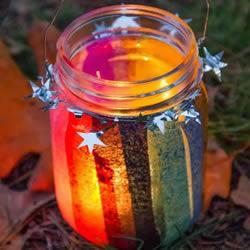 简单又漂亮的玻璃瓶灯笼手工制作图解教程