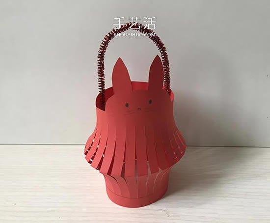 中秋節兔子燈籠的摺紙方法 可改造成新年燈籠