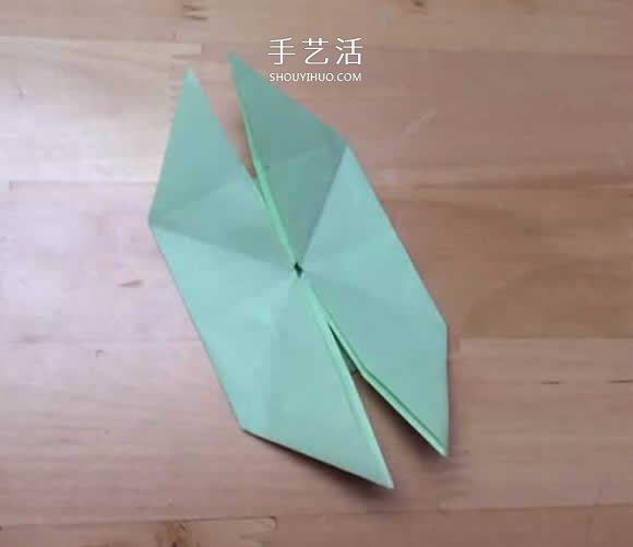 旋轉紙陀螺怎麼折圖解 簡單花型陀螺摺紙教程