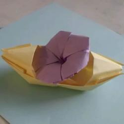 牵牛花的折纸步骤图解 怎么折喇叭花的教