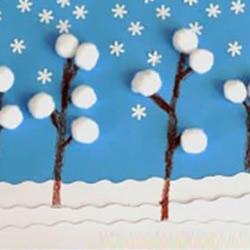 美丽新年雪景贺卡DIY 手工冬季贺卡制作方法
