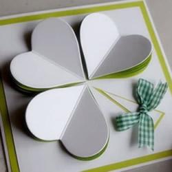 情人节表白贺卡:可爱三叶草贺卡的制作方法