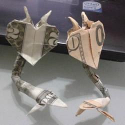 恶魔心的折法图解教程 像眼镜蛇的恶魔心折纸