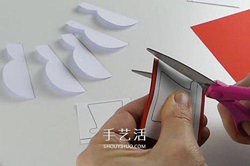 春節雪人賀卡的製作方法 也可作為聖誕新年賀卡