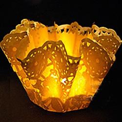 简单做情人节浪漫灯饰 蛋糕纸灯饰的制作方法