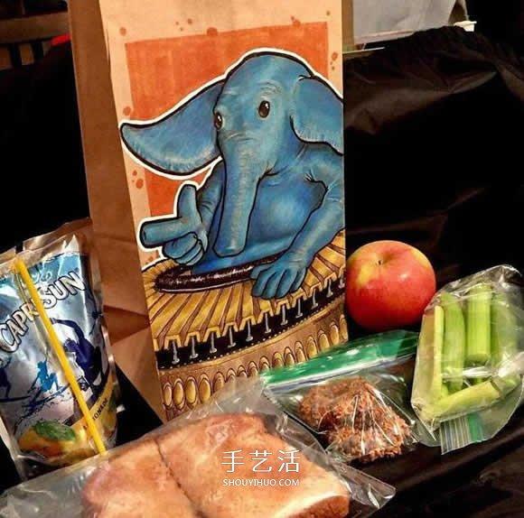 為了幫內向的兒子 爸爸手繪550個愛心午餐袋