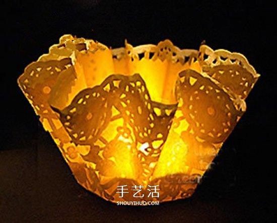 簡單做情人節浪漫燈飾 蛋糕紙燈飾的製作方法