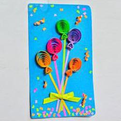 衍纸做好看教师节贺卡 衍纸立体热气球贺卡DIY
