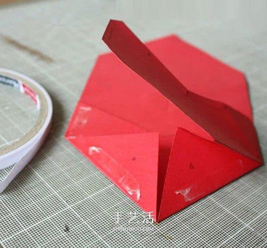 心的折叠方法图解_卡纸折红包的方法图解 新年爱心红包手工制作_手艺活网