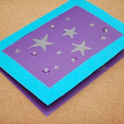 自制教师节贺卡:好看星星贺卡的做法图解