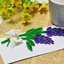情人节贺卡DIY:美丽的衍纸风信子贺卡制作