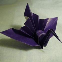 仿佛要展翅飞起!美丽千纸鹤的折法步骤图解