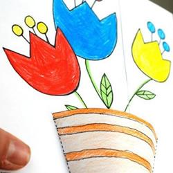 把最美的花送给您!教师节立体盆栽贺卡DIY