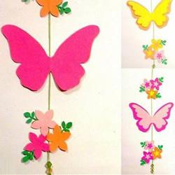 迎新年挂饰DIY 卡纸剪纸蝴蝶挂饰的方法图解