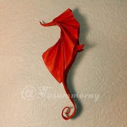 立体海马的折叠方法 手工折纸精致海马怎么折
