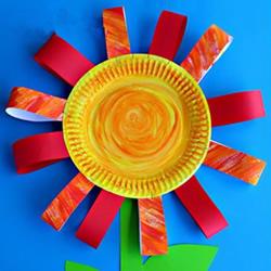 幼儿园教师节小手工 纸餐盘做小花礼物的方法