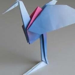 折纸千纸鹤的步骤小改造 简单折出立体丹顶鹤
