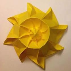 冬日里的暖阳!手工折纸立体太阳的折法图解