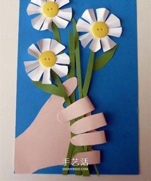我把花兒送給您!漂亮教師節花朵賀卡的做法