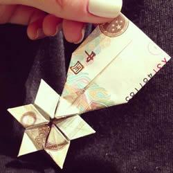 纸币勋章怎么折图解 手工折纸勋章的方法