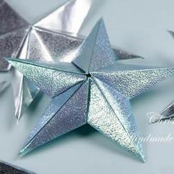 闪闪发亮五角星的折法 组合立体星星折纸图解