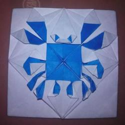 平面螃蟹怎么折图解 像画出来的小螃蟹折纸