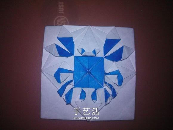 平面螃蟹怎麼折圖解 像畫出來的小螃蟹摺紙