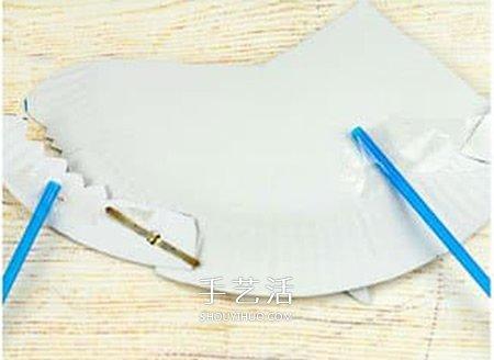 纸餐盘废物利用 嘴巴可以动的鲨鱼玩具小制作 -  www.shouyihuo.com