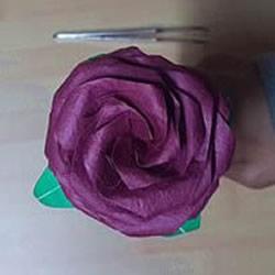 25瓣玫瑰的折法图解 罗伯特•朗的玫瑰花折纸