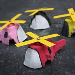 幼儿园手工做直升飞机 鸡蛋托制作飞机的方法