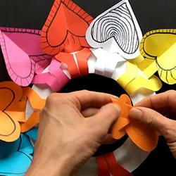 纸餐盘手工小制作 DIY漂亮的生日爱心花环挂饰