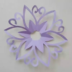 窗花怎么剪的图解教程 花朵图案窗花的剪法