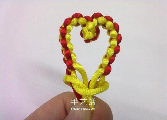 心形同心結怎麼編圖解 情人節愛心的編織方法