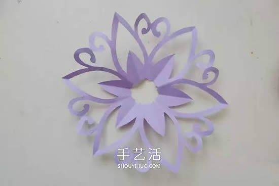 窗花怎么剪的圖解教程 花朵圖案窗花的剪法
