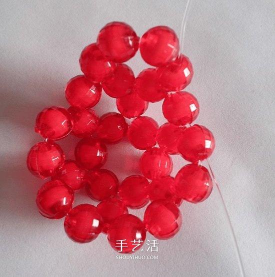 情人節串珠玫瑰花DIY 用串珠做紅玫瑰的方法